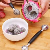Attractive Double-End Melon Ice Cream Baller Scoop Fruit Spoon Kitchen Tool HOT