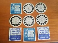 Lot of 5 Sawyer's Viewmaster Reels Adventures of Sam Sawyer 1950s