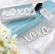 FD3694 Creative XOXO Exquisite Alloy Bookmarks With Ribbon Box Cute Gift ☆