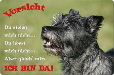 CAIRN Terrier - A4 Metall Warnschild Hundeschild SCHILD Türschild - CRT 08 T2