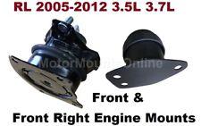 9R1520 2 Hydraulic Motor Mounts fit 2005 2006 2007 2008 2009 - 2012 Acura RL