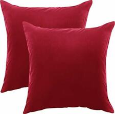 2 Pack Decorative Square Pillow Covers Zippered Cushion Covers Utopia Bedding