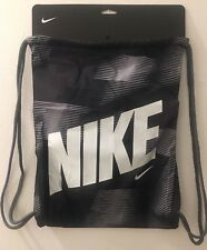 Nike misc divers unico sack bag in Grey/Black Striped Pattern and White logo
