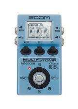 Zoom MS 70CDR Multistomp Electric Guitar FX Pedal Chorus Delay Reverb Effects