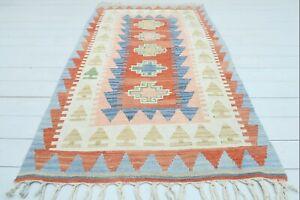 "Turkish Kayseri Small Kilim Rug, Doormat, Bathmat, Carpet Teppiche Tapis 42""x70"""