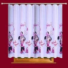 Disney  Voile Net Curtain -MINNIE MOUSE IN PINK - 75cm width x 150cm drop