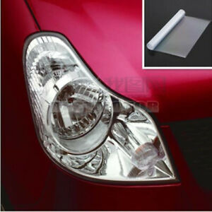 "Clear Tint Bra Headlight Bumper Hood Paint Protection Film Vinyl 12"" x 48"""