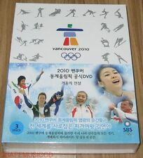 YUNA KIM LEGENDS OF THE WINTER 2010 VANCOUVER OLYMPICS 3 DISC DVD BOX SET SEALED