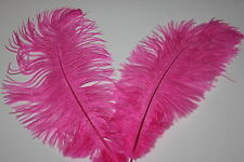 10 hot pink soft floss first grade ostrich feathers 230-250MM (9-10) inch