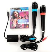 SingStar Dance w/ Microphones & Adapter (Sony PlayStation 3, 2010) Tested Works