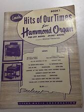 Leeds Hits of Our Times for Hammond Organ Book 1 1955