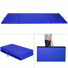 "Goplus Blue 4'x8'x2"" Gymnastics Mat Thick Folding Panel Gym Fitness Exercise Mat"