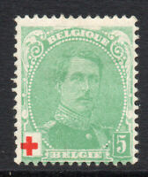 Belgium 5 Cent Red Cross Stamp c1914 Mounted Mint (hinged) (2726)
