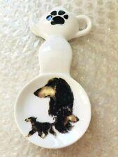 Afghan Hound New Handmade Ceramic-Porcelain Tea Bag Spoon Rest Kiln Fired Gift