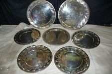 Silver plated  dishes x7 MARENGO 38-30cm RICCI ARGENTIERI IN ALESSANDRIA iTALIAN