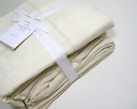 Pottery Barn Ivory Belgian Flax Linen King Sheet Set New