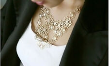 Alloy Bib Flowers & Plants Fashion Necklaces & Pendants