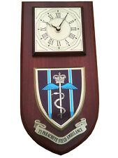 23 Parachute Field Ambulance Military Shield Wall Plaque Clock