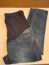 Maternity Full Panel Legging/Jegging Jeans S (4-6) Blue DENIM 5-Pockets