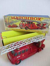 MATCHBOX k-15 King Size Merryweather Fire Engine Vigili del Fuoco Box OVP 60er anni