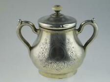 Antique 19th Century Russian Solid Silver Sugar Bowl 1887 Moscow