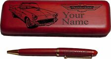 56 Ford T Bird Rosewood Pen & Case Laser Engraved - Nice Quality