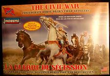 Sezessionskrieg Confed Army Berittene Artillery + Figuren , 1:16, Lindberg 70349