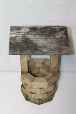 "Vintage Miniature Water Well Bucket Wood Wooden Primitive 18"" tall"