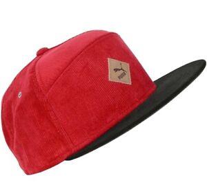 PUMA Flat Cap Men's Baseball Cap Cord Cap Beanie Hat Snapback Red Black M/L/XL