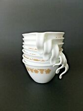 14 Vintage Corelle Corning Butterfly Gold  coffee tea cups
