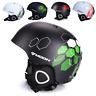 New Adults Men Women Lightweight Ski Helmet Snowboard Helmet Detachable Earmuffs