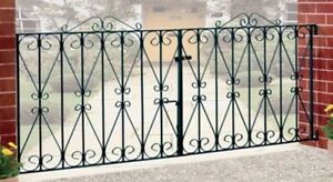 Wrought iron driveway gates Regent Design Galvanised & Powder Coated