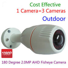2.0MP 1080P 180 degree Wide Angle Fish eye lens AHD CCTV Outdoor Security Camera