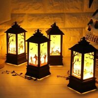 Halloween Pumpkin Castle Witch Light Lamp Flame Party Hanging Decor LED Lantern