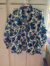 WOMENS NWT Plus Size XXXL  Women's FLORAL TWILL  BUTTON DOWN Jacket ORIG. $44.99