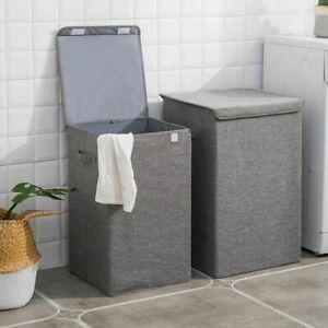 Große Filz Aufbewahrungsbox Wäsche Sammler Korb Truhe Behälter mit Deckel 100L
