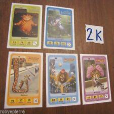 5 Figurine carta carte esselunga eroi dreamworks NUOVE 8 18 22 165 173 FIGURINA