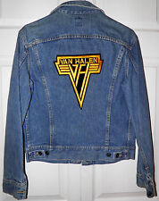 Lee Denim Jean Jacket 38R Made in USA New No Tags Van Halen Applique $20 Off BIN