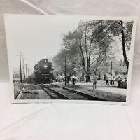 Vintage 1953 Photograph Train Petersburg Michigan