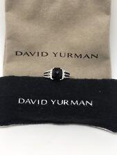 David Yurman Sterling Silver Petite Black Onyx & Diamond Wheaton Ring Size 5