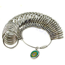 Easy To Use 1-33 Finger Ring Metal Sizer Measure Gauge Jewelry Size Tools 2016