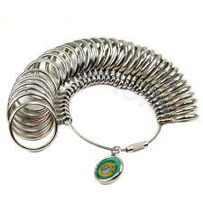 Hot Easy To Use 1-33 Finger Ring Metal Sizer Measure Gauge Jewelry Size Tools