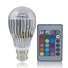 New 9W B22 100-240V Remote Control Color Changing RGB LED Light Bulb Lamp HY