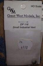 HO Great West Models Small Industrial Vent #DP 118  NIP