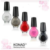 5 x Konad Stamping Nail Art polish11ml Special Polish DIY No.1 in Nail art! UK