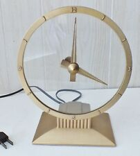 Vintage Jefferson Golden Hour Mystery Clock #580-101~Broken Glass & Non-Working