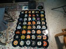 Vintage 60's-80's ROCK POP 45 RECORD COLLECTION Lot Of 50 Loose Records W/ Case