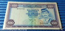 1983 Brunei Darussalam $100 Sa-Ratus Ringgit Note A/5 652759 Dollar Currency