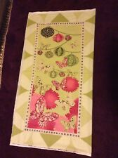 "Sakura by Kanvas Lantern butterfly Kimono Cotton Fabric Green Panel  45"" x 23"""