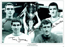 ASTON SADLER FOULKES STEPNEY DUNNE Man Utd Signed Autograph 16x12 Photo AFTAL